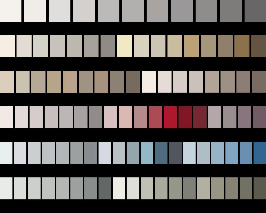 Atriafloor classic la prima resina autolivellante a base for Cartella colori pareti interne